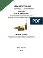 Informe Tecnico Minera Shuntur Sac