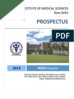 Prospectus Mbbs 2014