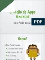 Criação de Apps Android