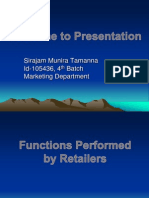 Functions Performed  by Retailers