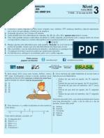 Prova Obmep Nivel 3-2014