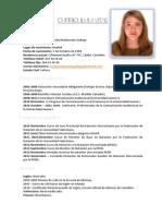 Currículum Vitae Cecilia Maldonado