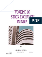 Working of Stock Exchanges
