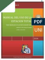 Manual Del Uso de La Estación Total