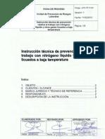 Instrucción Técnica de Prevención Con Gases a Baja Temperatura