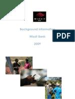 Background Information Wizzit Bank 2009