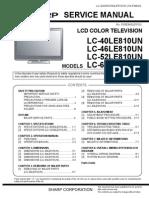 Sharp LC60LE810UN Schematics