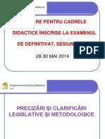 Formare Candidati DEF Mai 2014