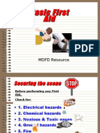 Légend image within printable pocket first aid guide