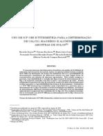 Uso de Icp-oes e Titrimetria Para a Determinação de CA, Mg, e Al Em Amostras de Solos