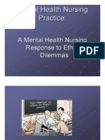 Ethics in Mental Health Nursing