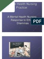 Ethics in Mental Health Nursing