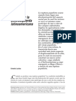 La Deriva Populista y La Centroizquierda_Laclau