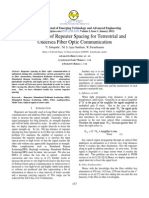 Optimization of Repeater Spacing for Terrestrial and Undersea Fiber Optic Communication
