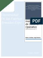 1.Instalacion de Sistema Operativo
