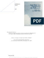 Acid Rain and Transported Air Pollutants