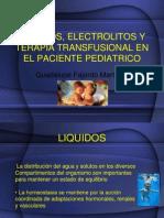 Liquidos, Electrolitos y Terapia Transfusional en El