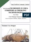 Titanium Erosion in Urea Strippers & Emerging Technologies