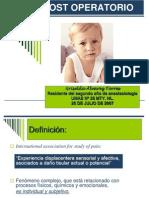 Dolor Post Operatorio en Niños