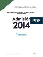 2014 Sociales y Humanidades Guía Buap