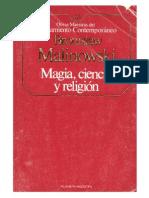 Malinowsky, Bronislaw - Magia Ciencia Y Religión