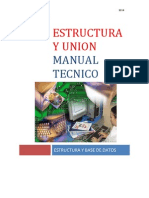 Manual Tecnico de Estructuras y Union