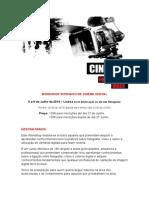 Workshop Cinema Programa