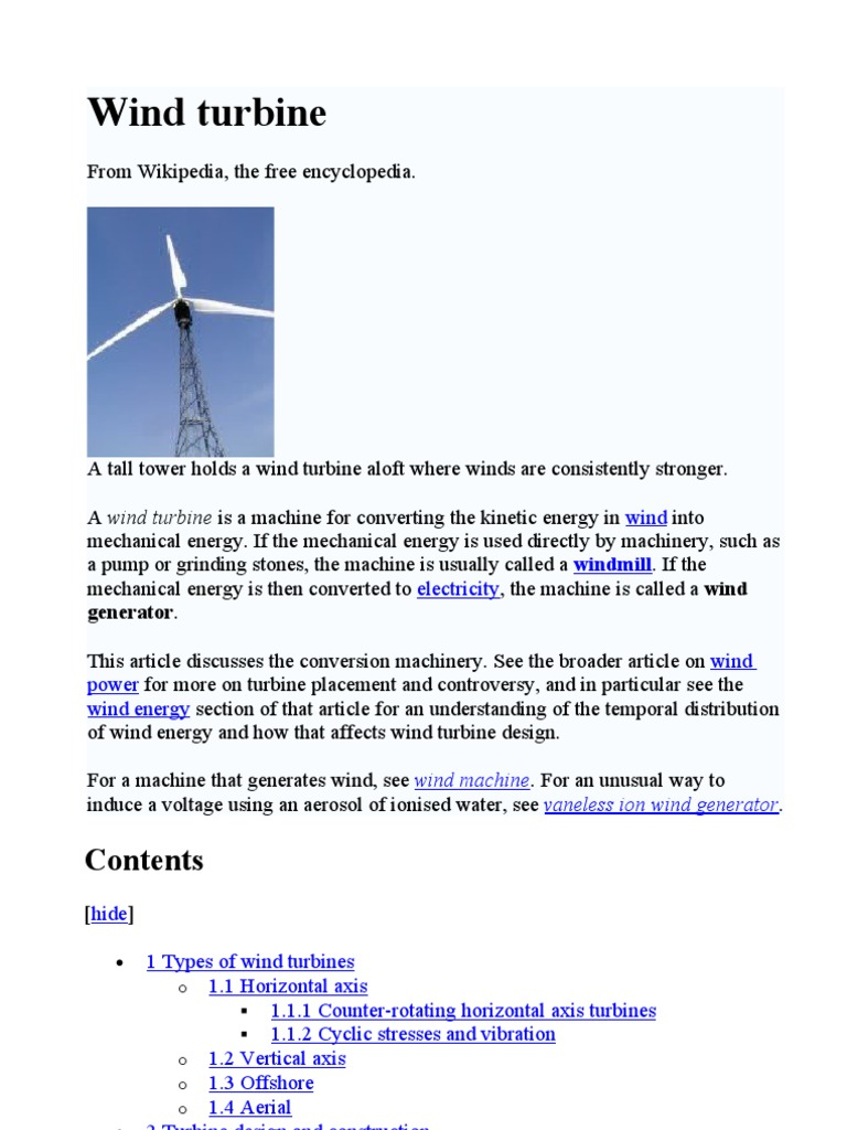 Wind Turbine Power Towers Great Rock Windpower