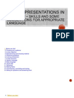 Making Presentations in English - Skills and Some