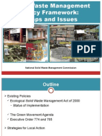 Solid Waste Management Policy Framework