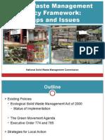 Solid Waste Management Policy Framework
