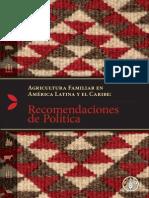 Agricultura Familiar - Recomendaciones Politica - FAO