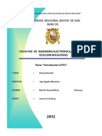 Informe IV-Automatizacion-Introduccion Al Plc