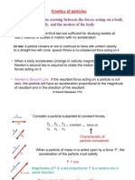 Kinetics of Particles Study of the Relations Existing Between The