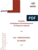 Rapport LES 9 PROPOSITIONS DU MEDEF