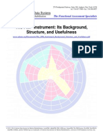 The FIM Instrument Background Structure and Usefulness