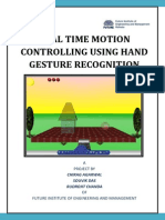 Real Time Motion Controlling Using Hand Gesture Recognition