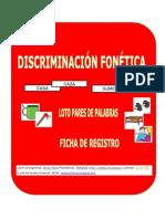 Discriminación Fonética Loto Registro