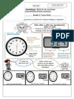 Guía de Aprendizaje El Reloj