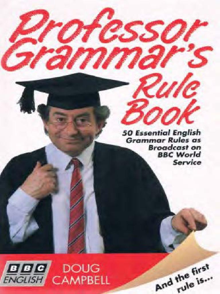 Professor Grammar's Rule Book