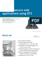 Building Secure App Using ZF2