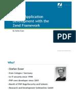 Webinar Zend Secure Application Development With the Zend Framework