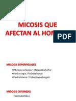 CLASE MICOSIS en EL HOMBRE Biologia de Los Microorganismos