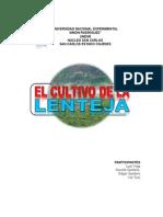 Cultivo de La Lenteja (Edgar Quintero-unesr)