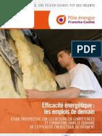 """SYNTHÈSE étude Franche-Comté """"Efficacité énergétique, quels emplois pour demain ?"""""""