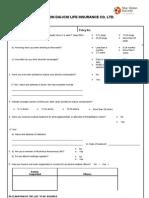 Alcohol Questionnaire