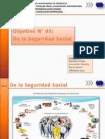 De La Seguridad Social