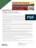 'Undergrad Update' advises respect