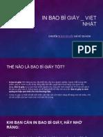 In Bao Bì Giấy _ Việt Nhật