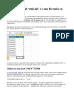 Agregar Texto Al Resultado de Una Fórmula en Excel
